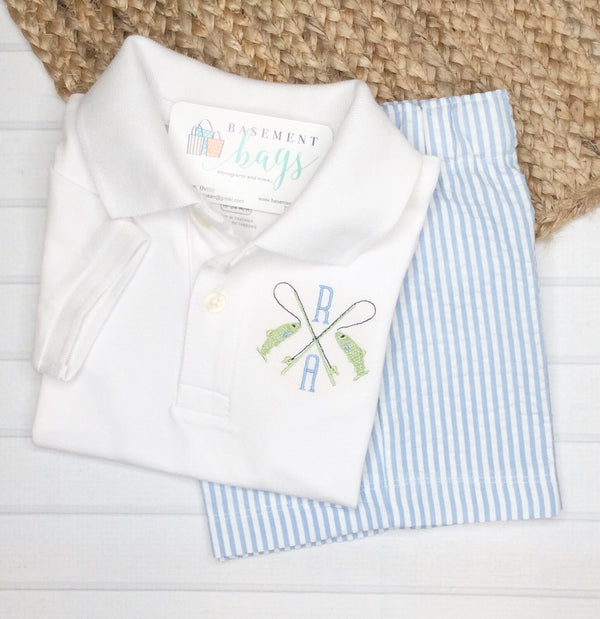 Gone Fishin' Boys Shorts Set