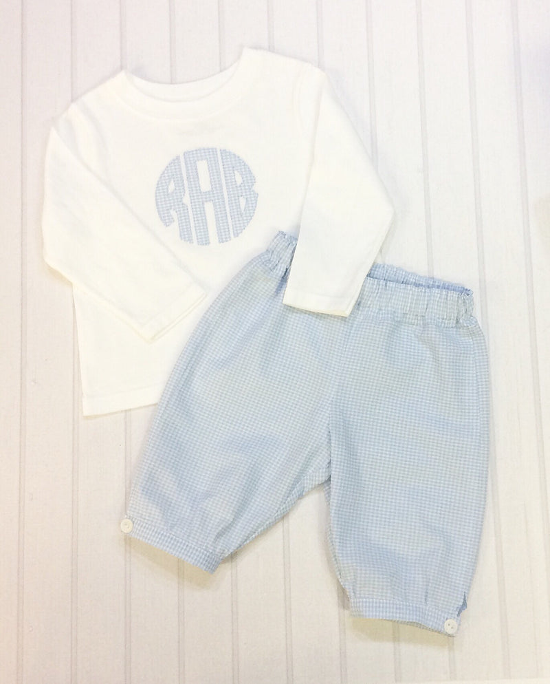 Classice Blue Gingham Pants Set