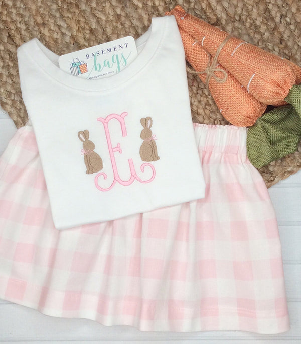 Mini Bunny Skirt Set
