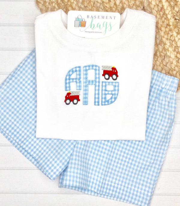 Firetruck Boys Shorts Set Set