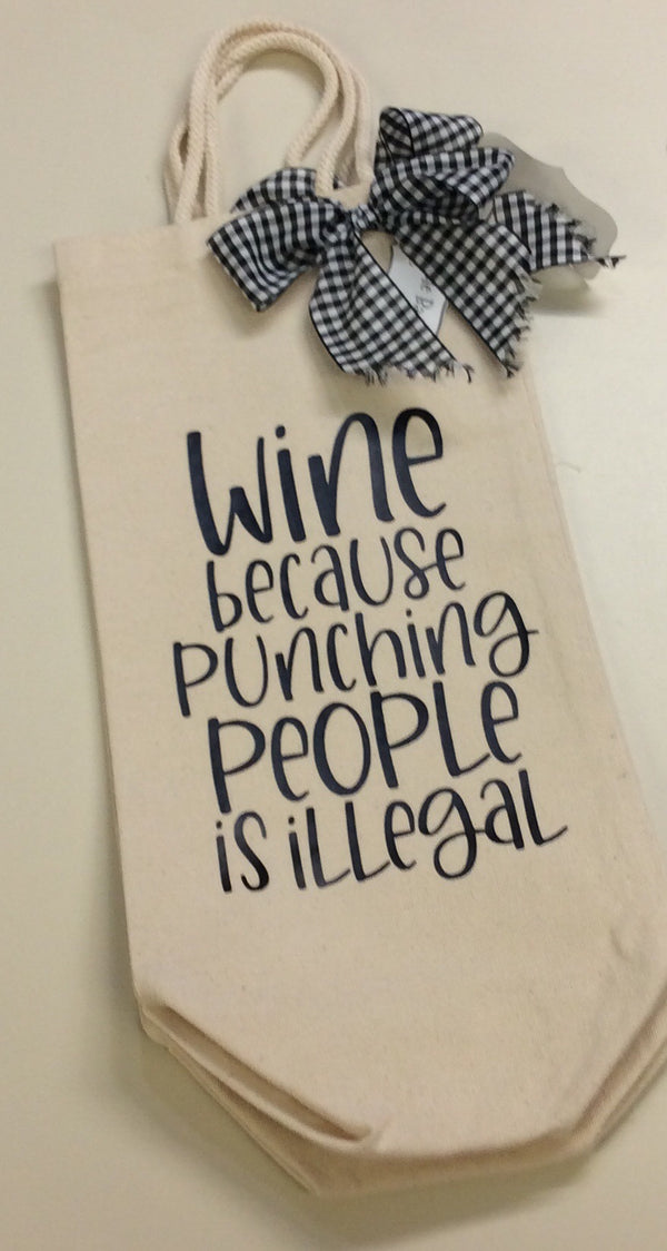 Wine Quote Bottle Bag