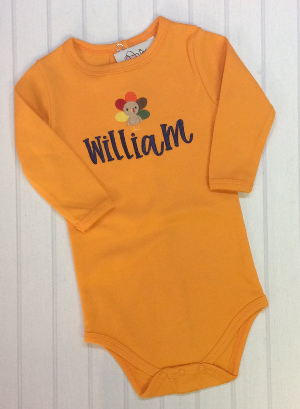Orange Turkey Onesie/Bodysuit