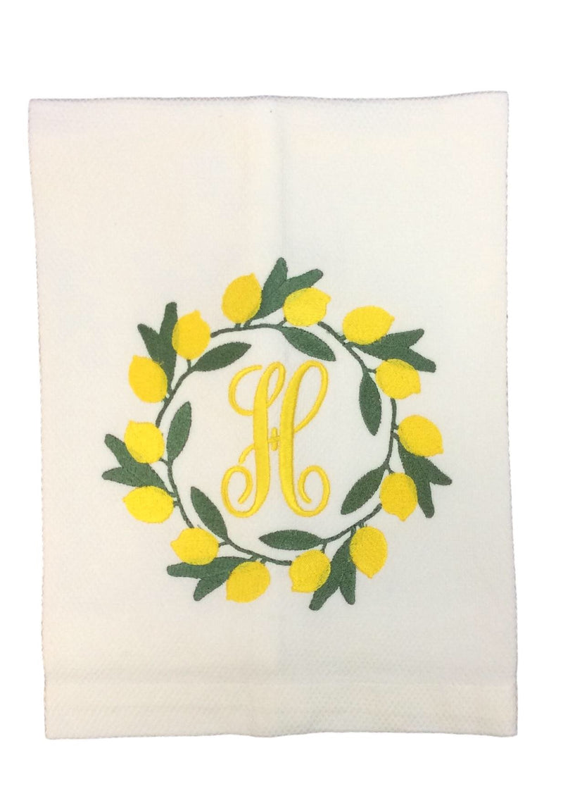 Lemon Wreath  Kitchen Towel