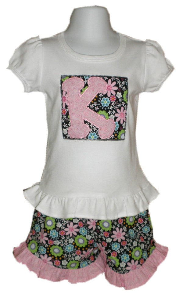 Personalized Ruffled Shorts Set