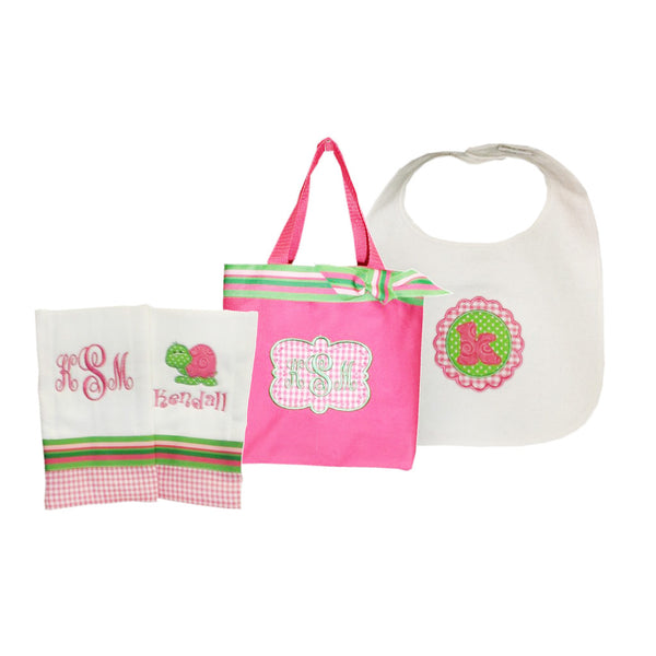 'So Girly' Personalized Baby Gift Set