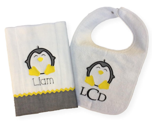 Liam Bib and Burp Set