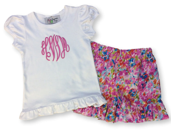 Lilly Inspired Ruffled Shorts Set