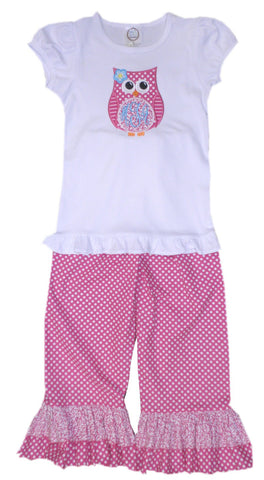 Personalized girls ruffle pants sets