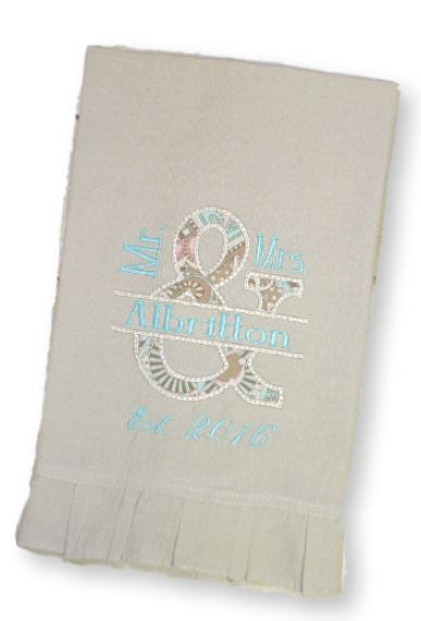 personalized linen hand towel