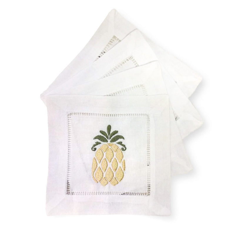 Monogrammed Cocktail Napkins (Set of 4)