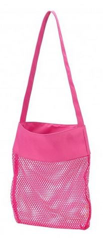 Monogrammed Mesh Shell Tote
