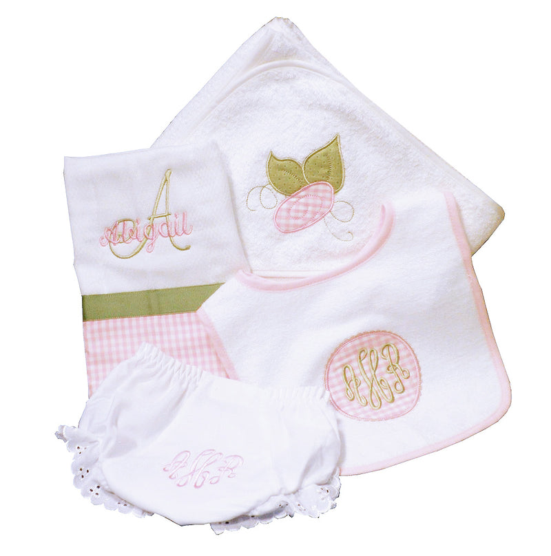 'Rose Bud' Personalized Baby Gift Set