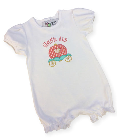 Personalized Ruffled Baby Romper