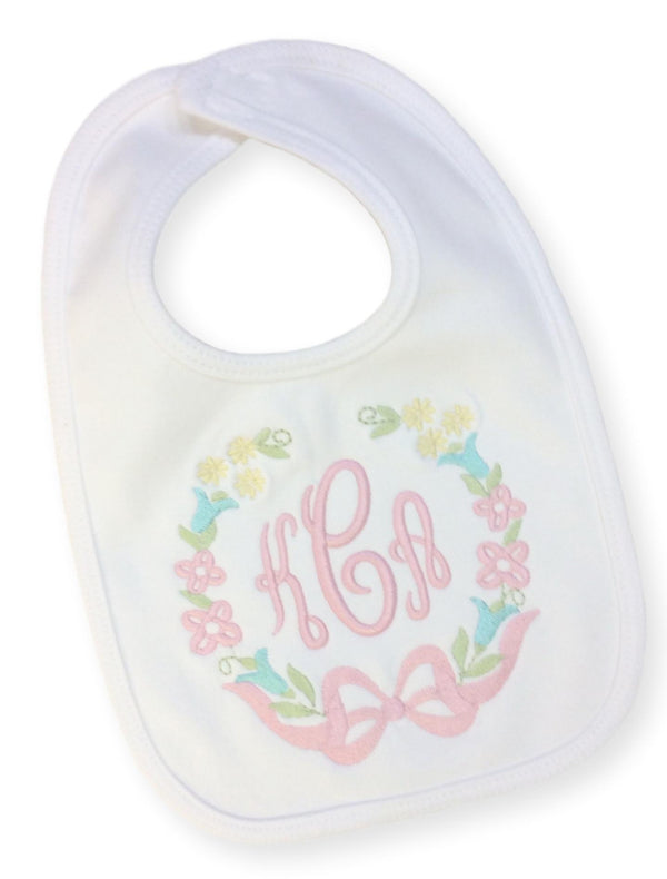 Floral Wreath Bib