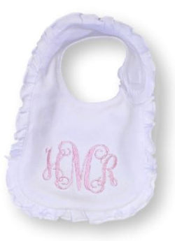 Personalized baby bib-ruffled