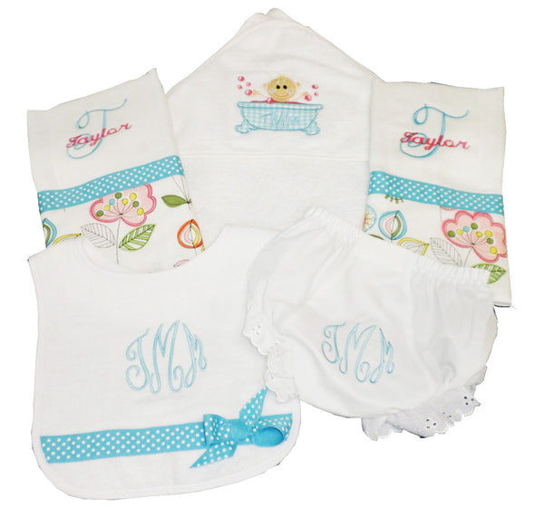 'Bubbles' Personalized Baby Gift Set
