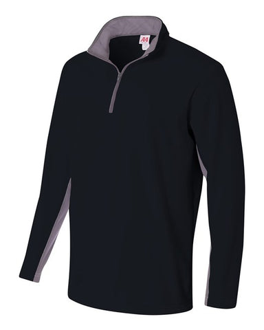 A4 1/4 Zip Color Block Fleece Jacket
