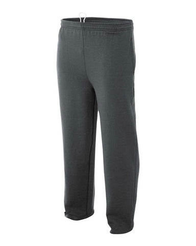 A4 Open Bottom Pocketed  Fleece Pant