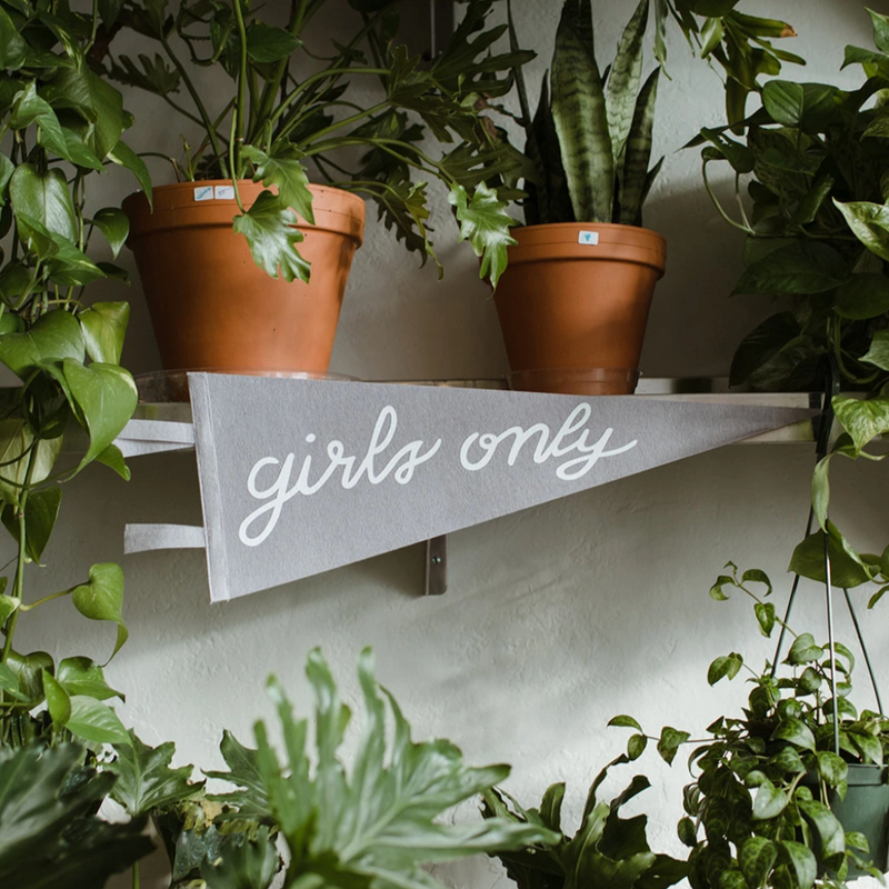 Girls Only Pennant
