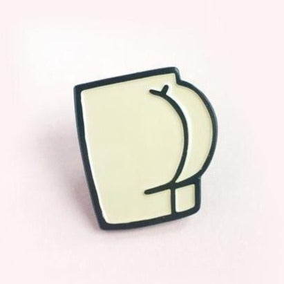 Butt Enamel Pin 2