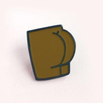 Brown Butt Enamel Pin