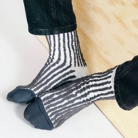 Ribbed Strike Sock- Black