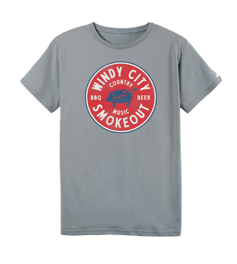 Men's Gray Windy City Smokeout T-shirt