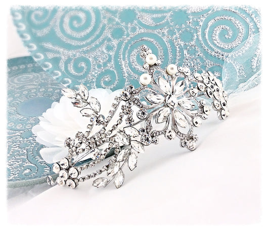 Crystal Flower Romantic Bridal Tiara