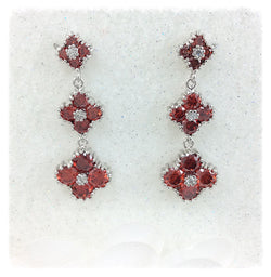 Ruby Red Crystal Earrings