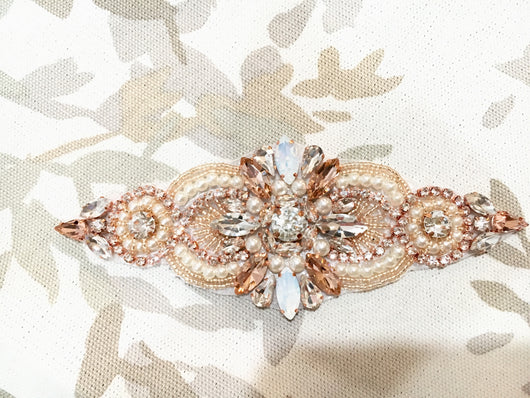 Rose Gold and Morganite Tone Bridal Belt
