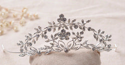 Crystal Flowers and Vines Bridal Tiara