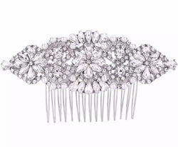 Vintage Pearl and Crystal Bridal Hair Comb