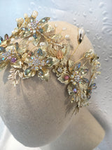Golden Butterfly Bridal Headpiece