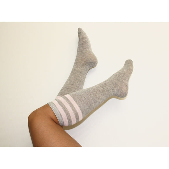 Knee high socks - Gray