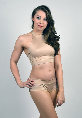 SKIN TONES DEEP BRONZE HALTER TOP