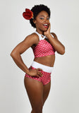 CHERRY POLKA DOT BOUDOIR SHORT