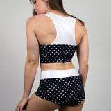 BLACK POLKA DOT SWEETHEART TOP