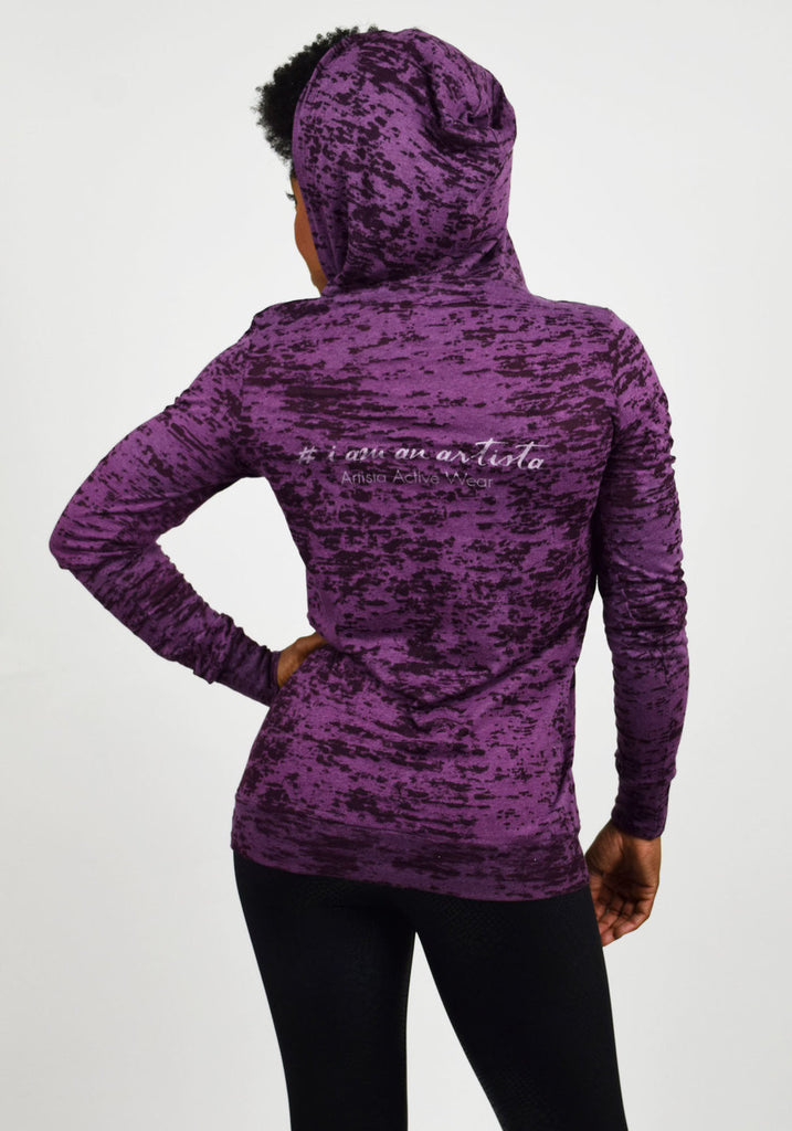 Purple Hoodie Back View