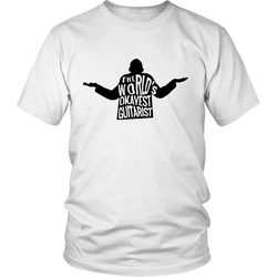 "Guitarist T-Shirt - ""World's Okayest Guitarist"""