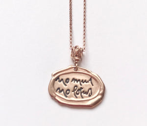 Being Peace Mini Rose Gold Necklace