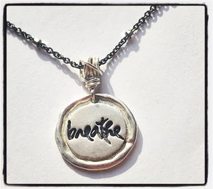 Being Peace Mini Silver Necklace