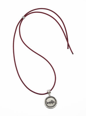 Plum Rope Necklace in Pewter
