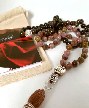 CLOAK OF WISE CONFIDENCE MALA ~ Tourmaline