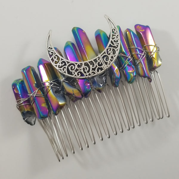 Gemstone Hairpin Comb