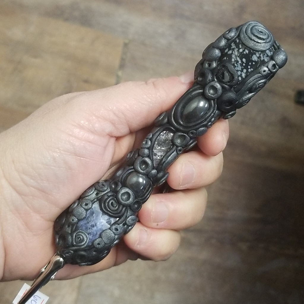 Black Burning Wand Protection and Peace