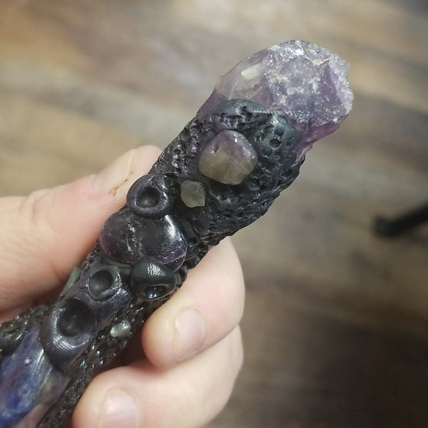 Sodalite and Amethyst Burning Wand