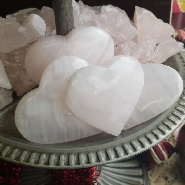 Pink Calcite Hearts