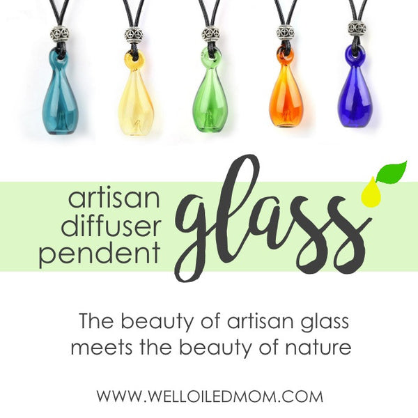 Artisan Glass Diffuser Necklace