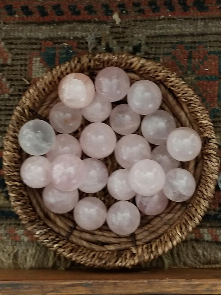 Gemstone - Rose Quartz Spheres