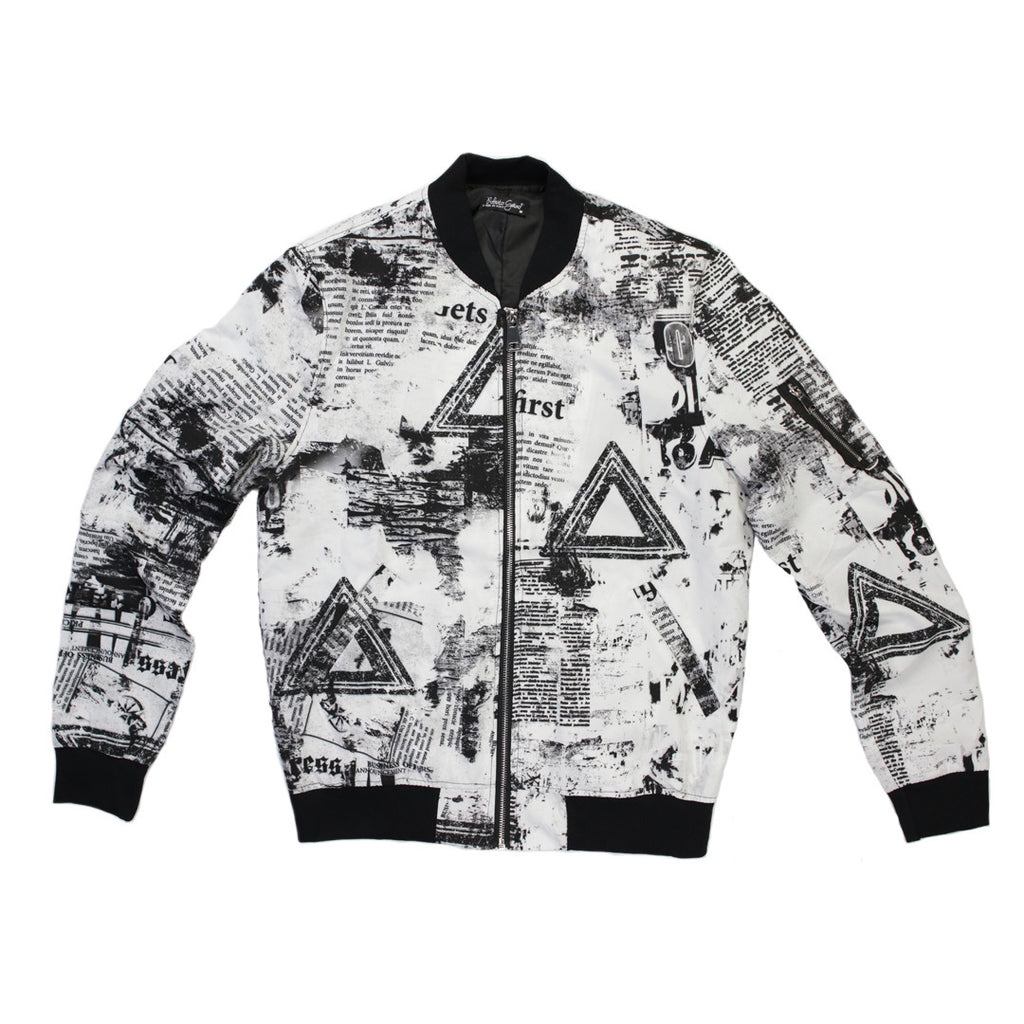 Roberto Garino Printed Bomber Lightweight Jacket - 8085 - NYC Fashion Guru